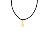 BLACK CORD -  BOLT NECKLACE