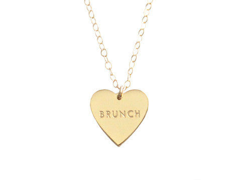 "MY HEART BELONGS TO ""BRUNCH"" NECKLACE"
