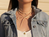 MAIVE - BUTTERFLY BOLO WRAP NECKLACE - VEGAN LEATHER