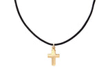 BLACK CORD -  CROSS NECKLACE