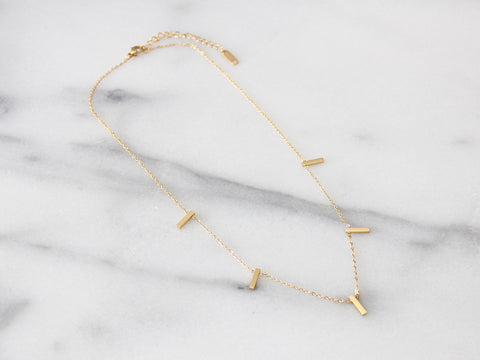 MAIVE - FIVE BAR NECKLACE