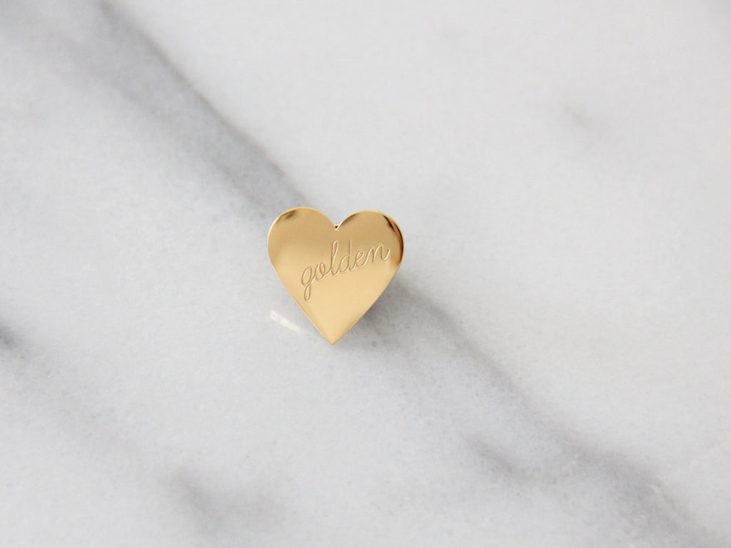 MAIVE - GOLDEN HEART PIN