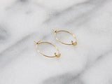 MAIVE - MOON HOOP EARRINGS