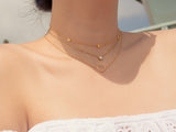 SALE - MAIVE - BEZEL STONE NECKLACE