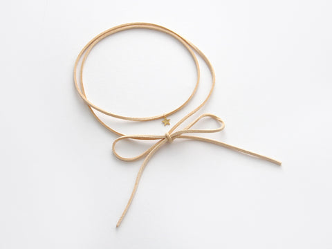 MAIVE - STAR BOLO WRAP NECKLACE - VEGAN LEATHER