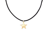 BLACK CORD -  STAR NECKLACE