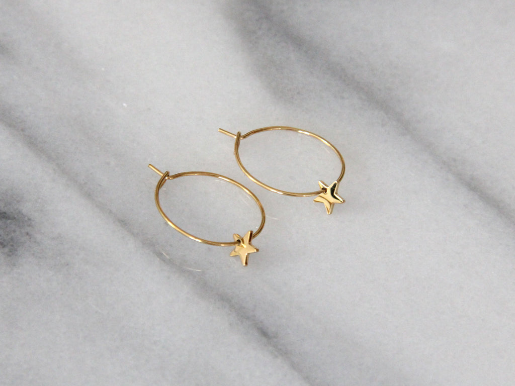 SALE - MAIVE - STAR HOOP EARRINGS