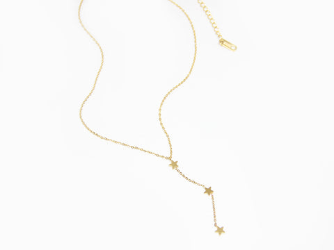 SALE - MAIVE - TRIPLE STAR LARIAT NECKLACE