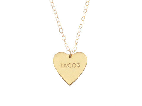 "MY HEART BELONGS TO ""TACOS"" NECKLACE"