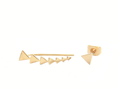 Triangle Ear Climber and Stud Set