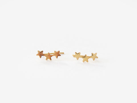 MAIVE - TRIPLE STAR EAR CLIMBERS