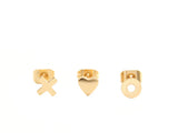 XO & HEART STUD SET