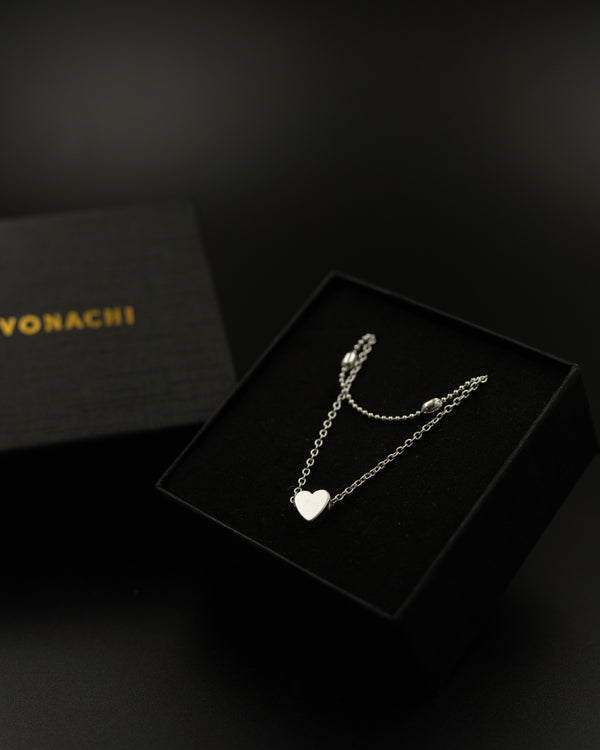 Vonachi™ Heart Charm Choker Necklace