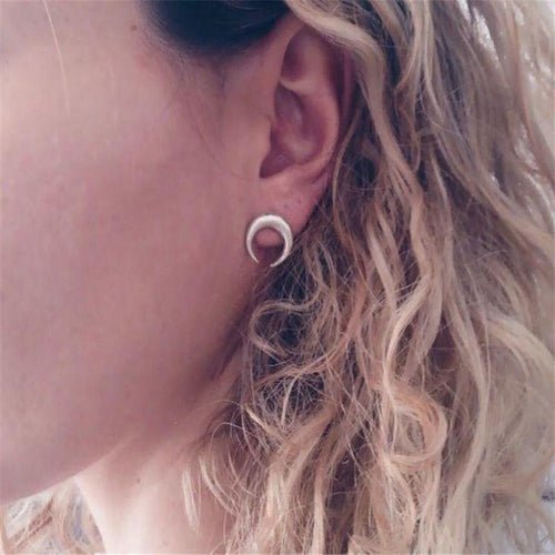 Arc Moon Earrings