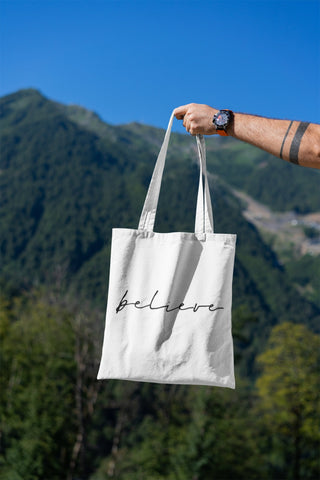 BELIEVE - MANIFEST Tote Bag - Reality Hacker Co.