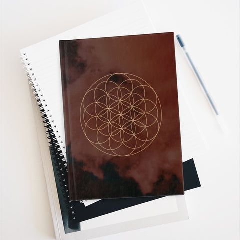 FLOWER OF LIFE CLOUD Journal - Ruled Line - Reality Hacker Co.