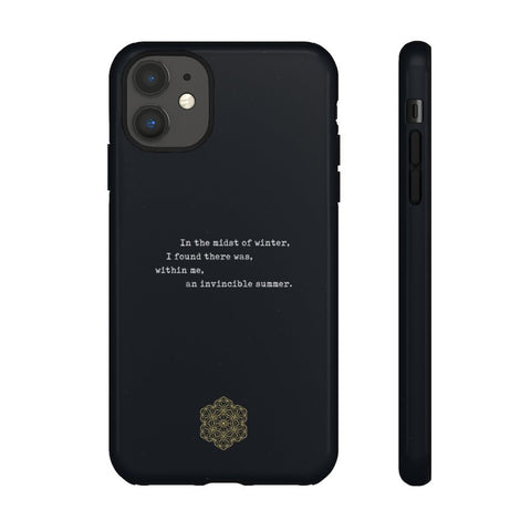 Invincible Winter—Quote Phone Case - Reality Hacker Co.