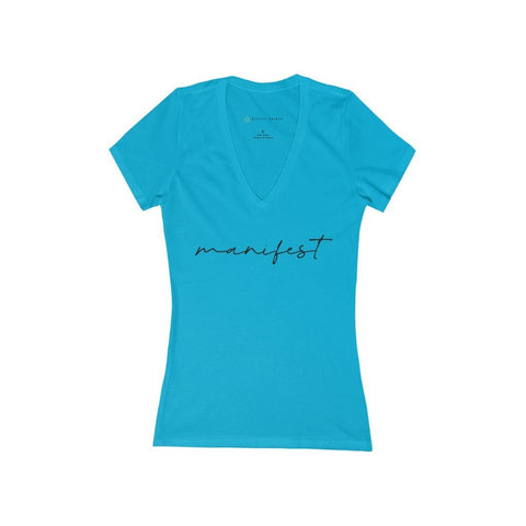MANIFEST Women's Deep V-Neck Tee - Reality Hacker Co.