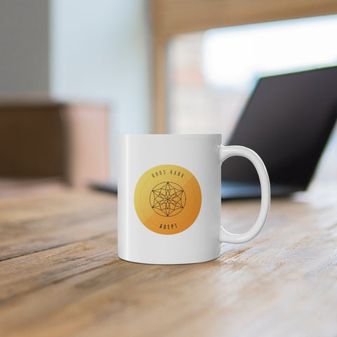 RHOS Rank: Adept – 11oz Badge Mug - Reality Hacker Co.