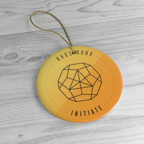 RHOS Rank: Initiate - Collectible Ceramic Ornament - Reality Hacker Co.