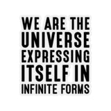 WE ARE THE UNIVERSE Kiss-Cut Stickers - Reality Hacker Co.