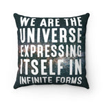 WE ARE THE UNIVERSE (STARS) Faux Suede Square Pillow - Reality Hacker Co.