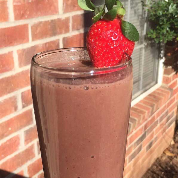 Chocolate Strawberry Sapodilla Smoothie