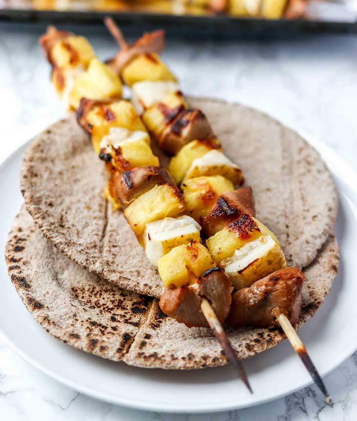 Hawaiian Guava Chicken Kebabs