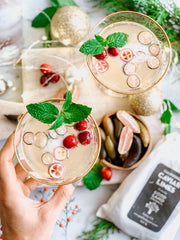 Cranberry Caviar Lime Spritzer with Prosecco