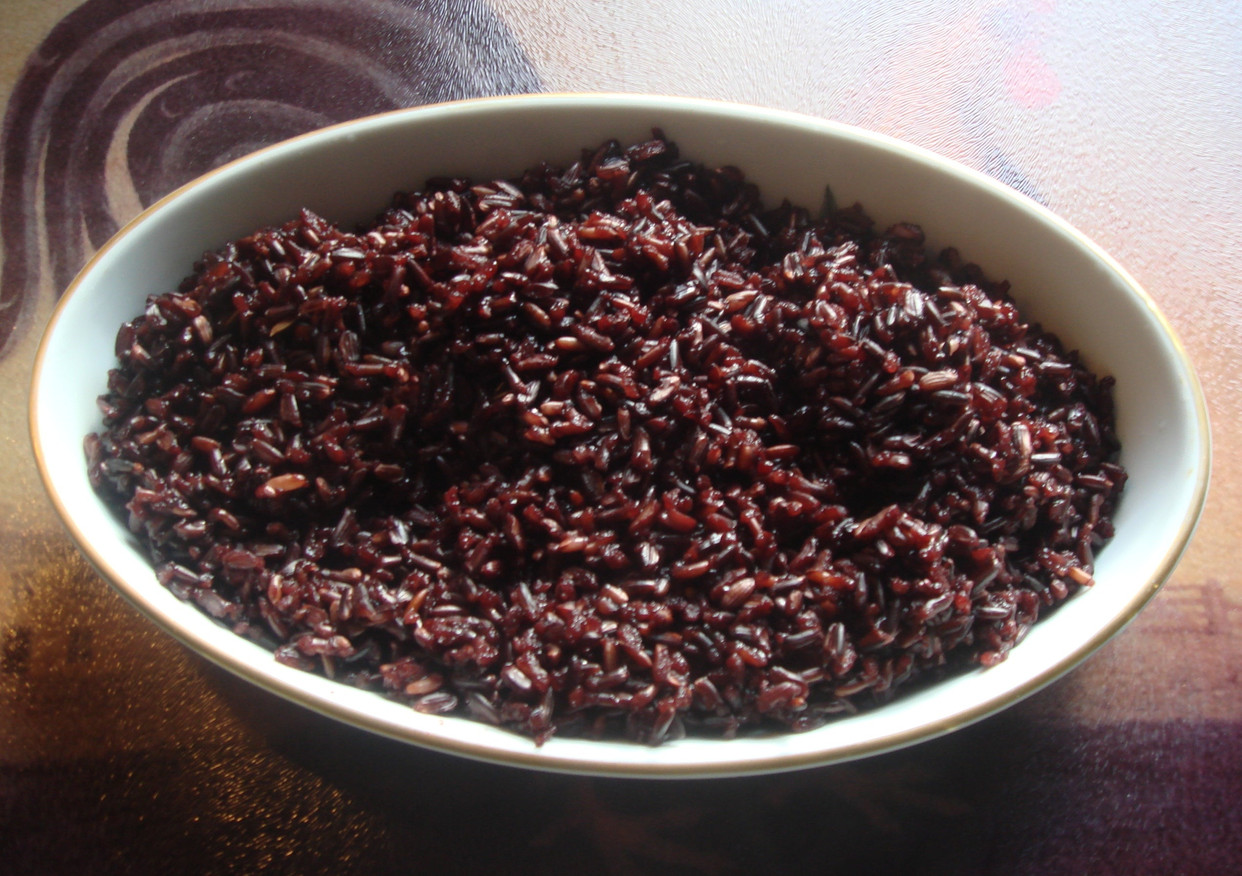 Pomegranate Black Rice Salad