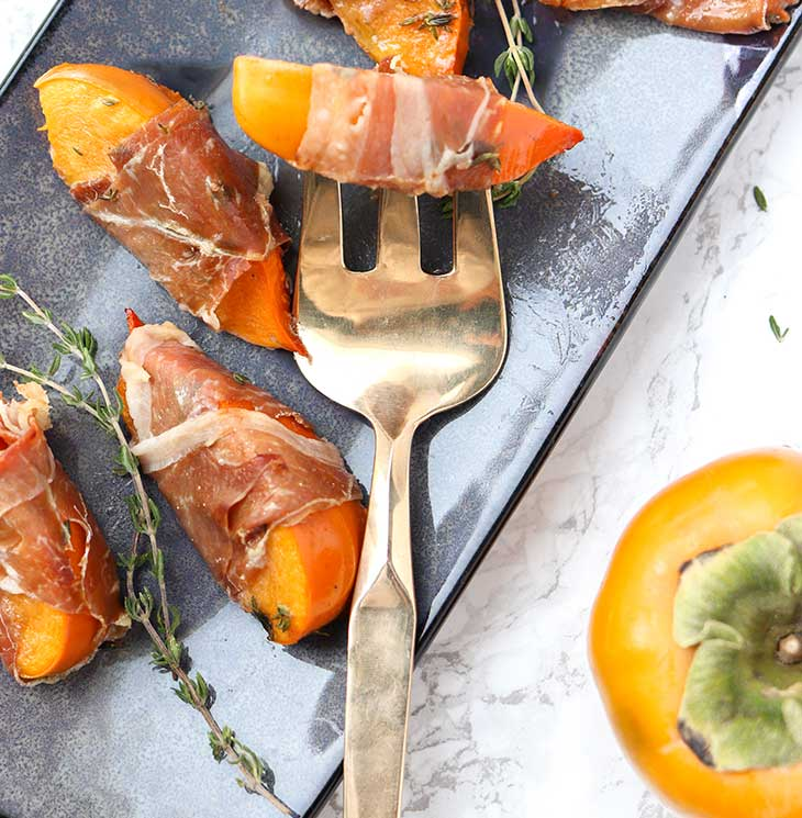 Prosciutto-Wrapped Persimmons