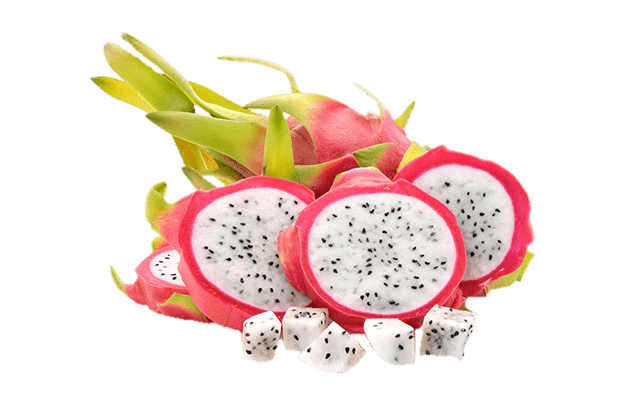 cut dragon fruit