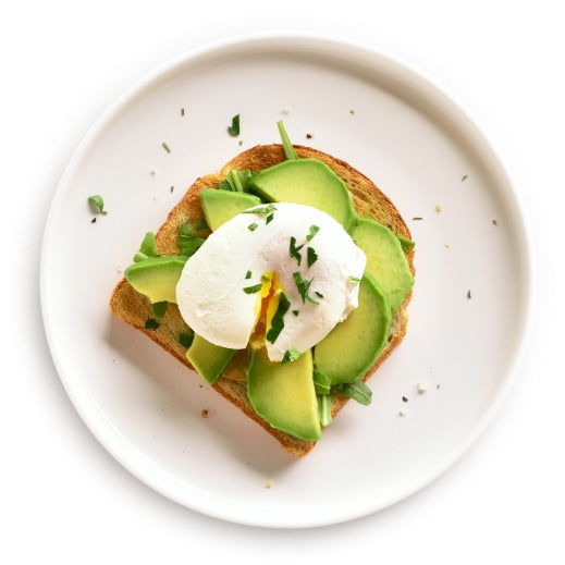 poarched egg on avocado