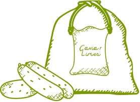 bag of caviar limes drawing