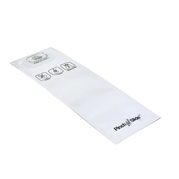 "Pinch N Slide Child Resistant Mylar Bag White 2.4"" x 7.2"" - 250 Count"