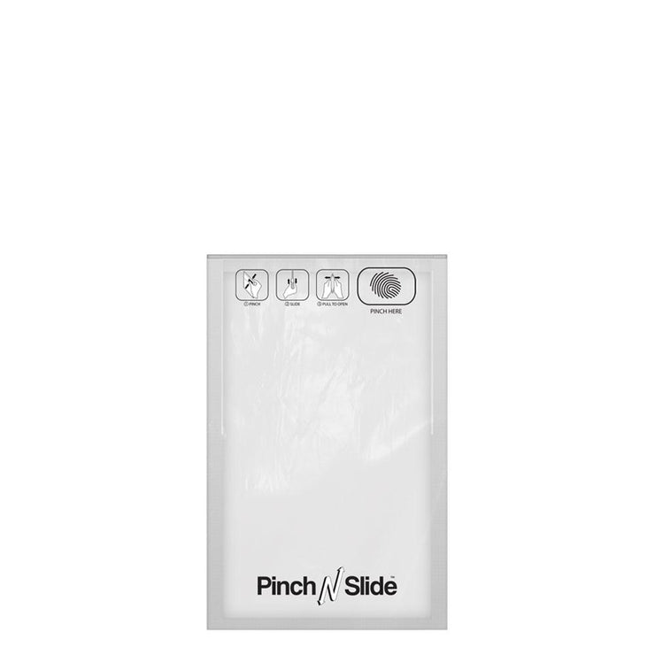 "Pinch N Slide Child Resistant Mylar Bag White 5"" x 8.5"" - 250 Count"