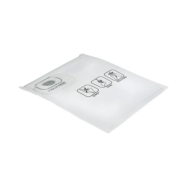 "Pinch N Slide Child Resistant Mylar Bag White 3.4"" x 3.7"" 250 Count"