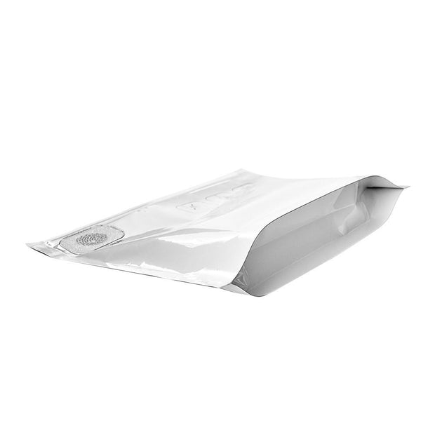 "Pinch N Slide Child Resistant Mylar Bag White 8"" x 6"" - 250 Count"