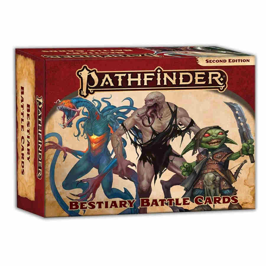 PATHFINDER RPG - SECOND EDITION: BESTIARY BATTLE CARDS | Darkhold Games