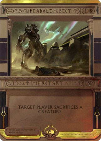 Diabolic Edict [Amonkhet Invocations] | Darkhold Games