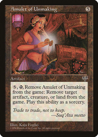 Amulet of Unmaking [Mirage] | Darkhold Games
