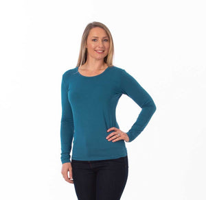 Long Sleeve Bamboo Top nz - soft and stretchy from My Sanctuary