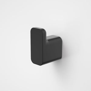 Caroma Luna Robe Hook in Black, Caroma bathroom acceessories