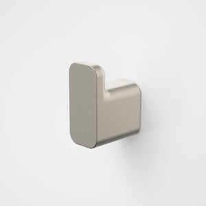 Caroma Luna Robe Hook in Brushed Nickel, Caroma bathroom acceessories