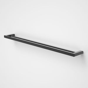 Caroma Luna double Towel Rail  in black  - Caroma Luna Bathroom Accessories