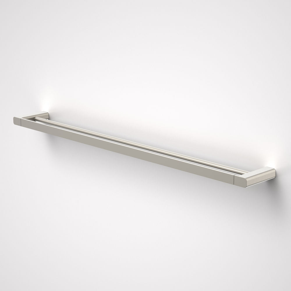 Caroma Luna double Towel Rail  in brushed nickel - Caroma Luna Bathroom Accessories