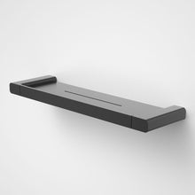 Load image into Gallery viewer, Caroma Luna metal bathroom shelf  in Black, Caroma bathroom acceessories