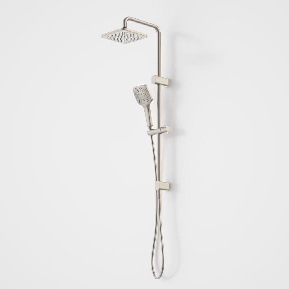 Caroma Luna Overhead Rail Shower in Brushed Nickel