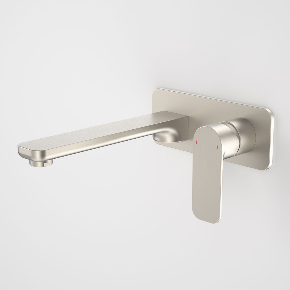 Caroma Luna Wall Basin Bath Mixer Brushed Nickel