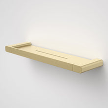Load image into Gallery viewer, Caroma Luna metal bathroom shelf  in Brushed Brass, Caroma bathroom acceessories